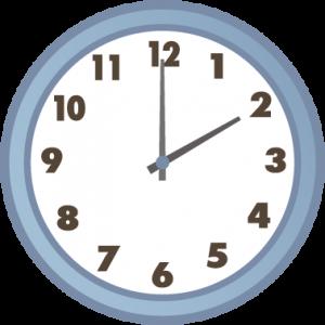 午後2時の時計
