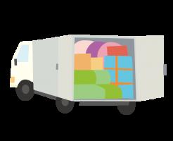 積み切りのトラックの荷台