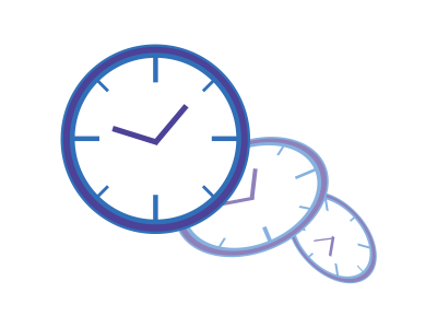 時間が進む時計