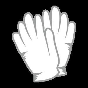 白い木綿の手袋