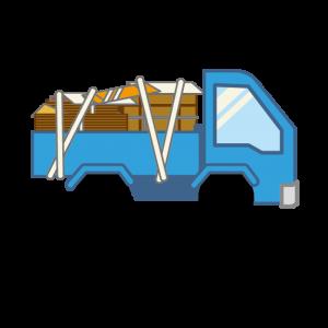 ゴミを積んだトラック