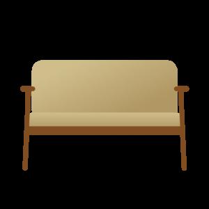 脚つきのソファー