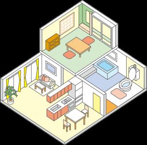 家の家具・家電製品の設置・配置