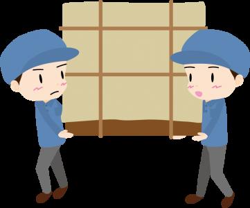 家具を運ぶ引越し業者男性スタッフ