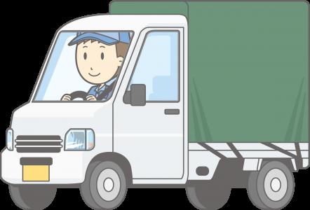 軽トラックに乗る引越し業者の男性スタッフ
