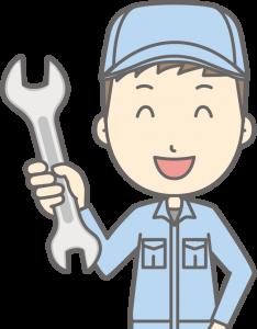 工具を持つ引越し業者男性スタッフ