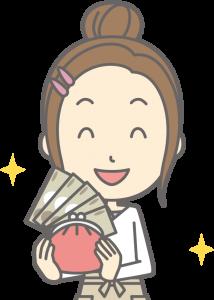現金を持つ主婦