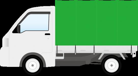 2トンショート幌トラック