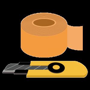 ガムテープとカッター